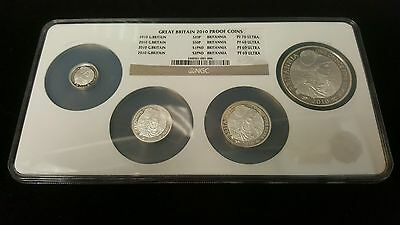 2010 Great Britain Silver Coin Set NGC PF69,PF70 ULTRA
