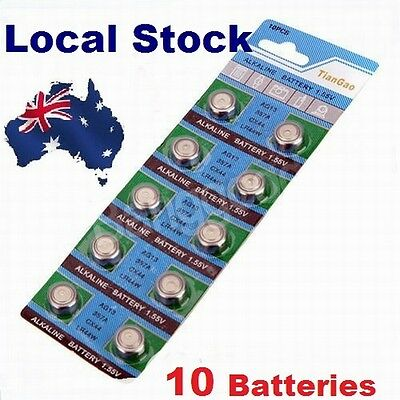 10x Pack LR44 1.5 Volt Alkaline Button Cell Battery AG13 A76 357 303 LR 44 sr44