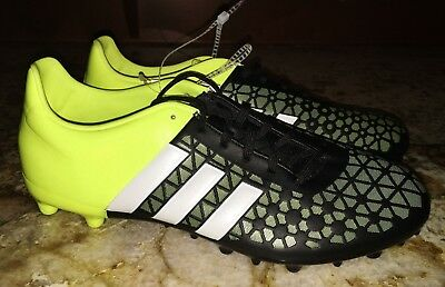 586e0bc1d759e ADIDAS Ace 15.3 FG   AG Solar Yellow White Black Soccer Cleats NEW Mens Sz 9
