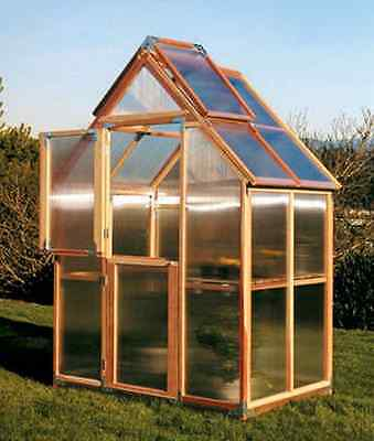 Sunshine GardenHouse Mt. Hood 6X4 Greenhouse with bench [GKP64]