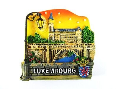 Luxemburg Pont Adolphe Poly Fridge Magnet Souvenir Luxembourg