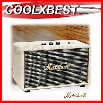 New Marshall Acton Active Stereo Speaker Cream Bluetooth & Aux In