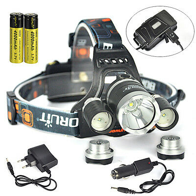 6000Lm XML L2 LED Scuba Diving Flashlight Torch Underwater 100M+2X 18650+Charger