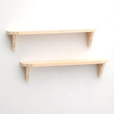Wooden Wall Shelf 1:12 Scale for Dolls House Pack of 2 Shelves