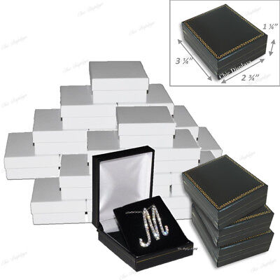 Lot Of (24) Pendant Boxes Black Gift Boxes Showcase Displays Earring Jewelry Box