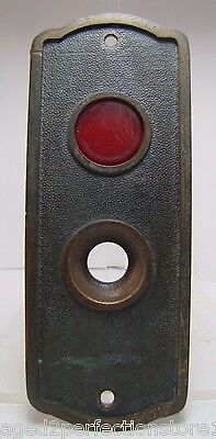 Old Elevator Panel In Use and button hole ornate original bronze brass hardware