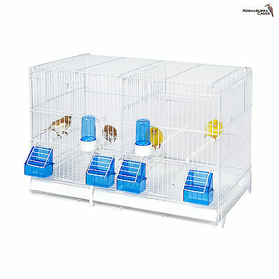 Double Breeding Cage / ALL WIRE For Finch,Canary, Budgie ECT FREE 24HOUR DELIVER