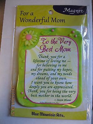 "BLUE MOUNTAIN ARTS  'To The Very Best Mom'  Magnet, Plastic, 3"" W x  3 1/2"" H"