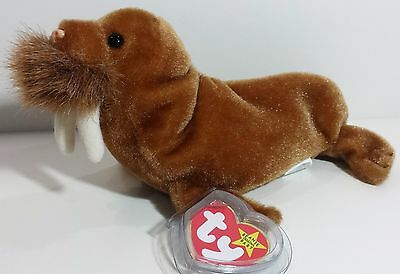 """TY Beanie Babies """"PAUL"""" the WALRUS - MWMTs! RETIRED! A MUST HAVE! PERFECT GIFT!"""