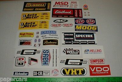 Model Slot Car Train Ho Scale layout auto racing sticker decal new lot w/ sheets
