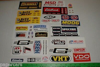 tool box locker small size mechanic drag racing sticker decal new lot w/ sheets