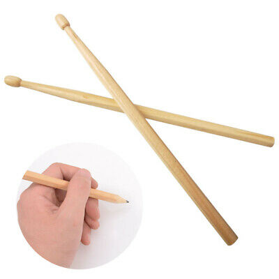 2PCS Wooden Drumstick Pencils Non-toxic Office School HB Pencil Musical kid Gift