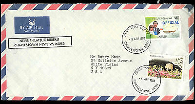 Nevis 1983 Airmail Cover To USA #C33543