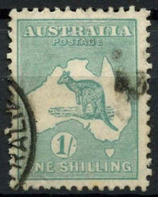 Australia 1929-30 SG#109, 1s Blue-Green Kangaroo 5th Wmk Used #D12111