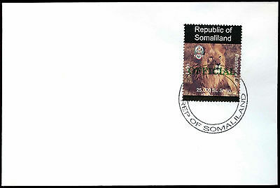 Somaliland 1998 Lion Official Green Overprint Cover #C33747