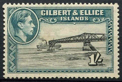 Gilbert & Ellice Is. 1939-55 SG#51, 1s Cantilever Jetty KGVI MNH #D15441