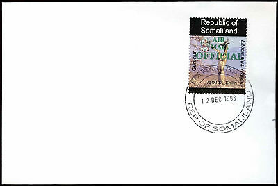 Somaliland 1998 Gerenur Airmail Official Green Overprint Cover #C33804