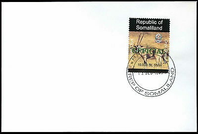Somaliland 1998 African Oryx Official Green Overprint Cover#C33783