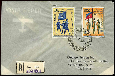 Somalia 1963 Womens Auxilary Forces Registered FDC To USA #C33931