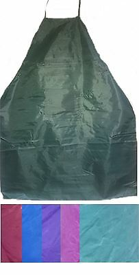Assorted Colours Vinyl PVC Apron Waterproof Kitchen Garden BBQ Cleaning Pouch