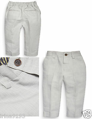 Next Baby Or Boy`s Light Grey Suit Wedding Trousers Size 1.5-2,2-3,3-4,4-5,5-6yr