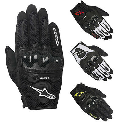 Alpinestars SMX-1 Air SMX1 Mesh Carbon Motorbike Motorcycle Gloves   All Colours