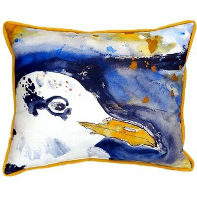 Betsy Drake Interiors Gull Portrait Right Indoor/Outdoor Lumbar Pillow