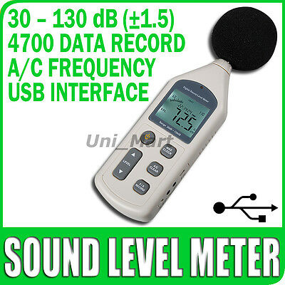 Risepro New Sound Pressure Level Meter 30~130 dB Decibel Noise Measurement Data