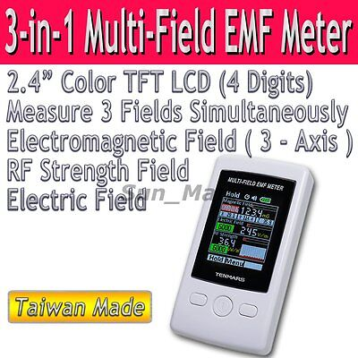 Risepro Taiwan EMF Meter Gauss 3-axis Magnetic RF Field Electric Strenght TM190