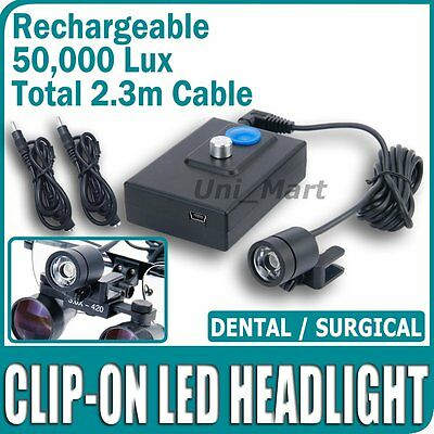 Risepro 50000Lux Lumière Dentaire Chirurgical Phares LED Loupe Binoculairelampe