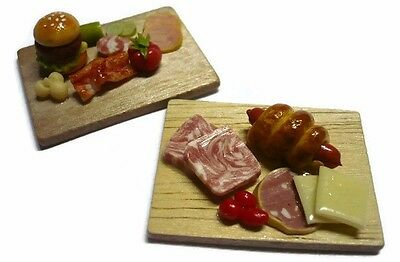 2 Preparation Wooden Board Kitchen Cooking Dollhouse Miniatures Food 7M