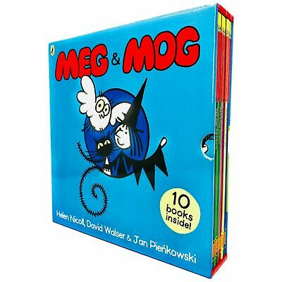Meg and Mog Collection 10 Children Pictures Books Set includes Meg's Car...etc
