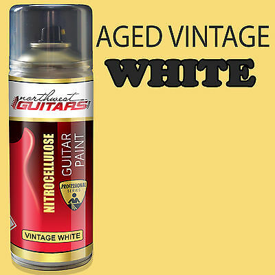 Aged Vintage White Nitrocellulose Guitar Paint / Lacquer 400ml