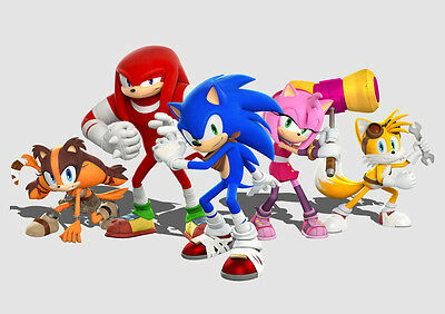 Sonic the Hedgehog Poster Print Borderless Stunning Vibrant A1 A2 A3 A4