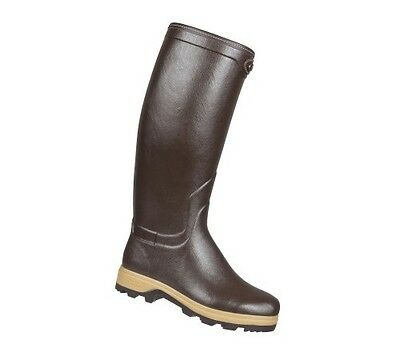 Le Chameau St Hubert Heritage Leather Lined Mens Wellingtons