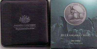 2002 One Dollar 1 Silver Kangaroo Proof Coin Aud 48 00