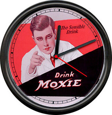 Moxie Soda Jerk Pop Pharmacy Pharmacist  Drug Store Bar Sign Wall Clock