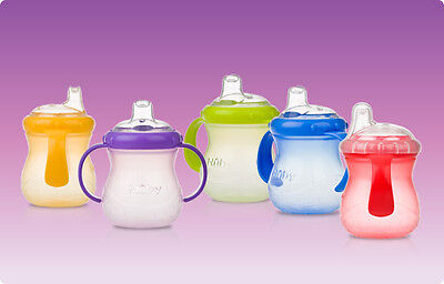 1 NEW Nuby No Spill 10 oz Sippy Gripper Cup w/ Handles