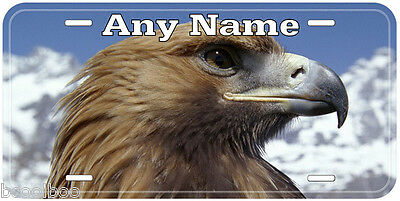 Golden Eagle Any Name Aluminum Auto Tag Novelty License Plate