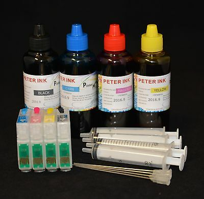 400ML refillable refill ink cartridge set for epson workforce 630 633 635 840