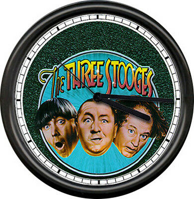 Three Stooges TV Television Retro Vintage Show Sign Wall Clock
