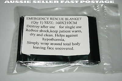 Space Blanket Thermal Foil Emergency Survival Camping Rescue First Aid x 1