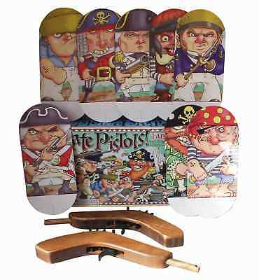 Pirate Pistols! Target Game Vintage Shooting Rubber Bands Fun Entertainment