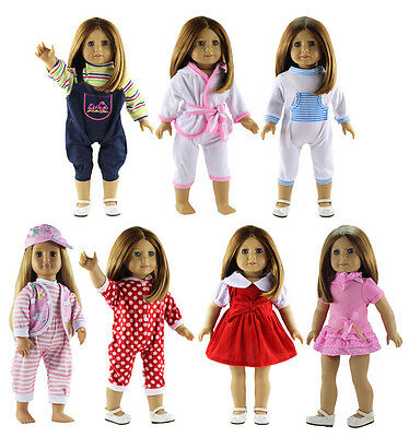 Hot 7 Set Doll Clothes FOR 18'' American Girl Handmade Party Princess Dress