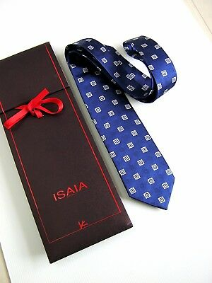 ISAIA Napoli 7 PIEGHE SEVEN FOLD NUOVA NEW SETA SILK ORIGINALE MADE IN ITALY