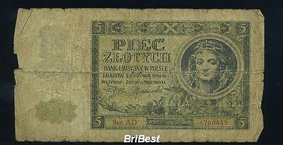 1940 5Zloty Generalgouvernement Ro:573 (81962)