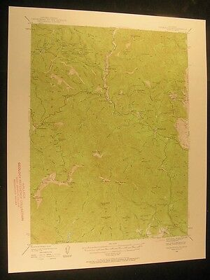 French Gulch California Whiskeytown 1957 vintage USGS original Topo chart map