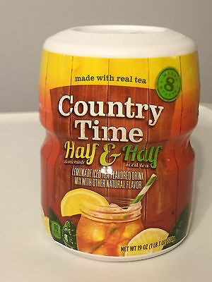 Country Time Half & Half Iced Tea ~ Drink Mix Canister ~ Makes 8 qts.