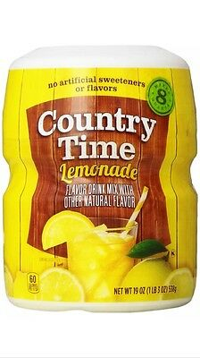 Country Time Lemonade ~ Drink Mix Canister ~ Makes 8 qts.