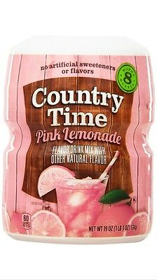 Country Time Pink Lemonade ~ Drink Mix Canister ~ Makes 8 qts.